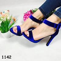 40!!!    Босоножки женские удобные моника синие, балетки, женская летняя обувь