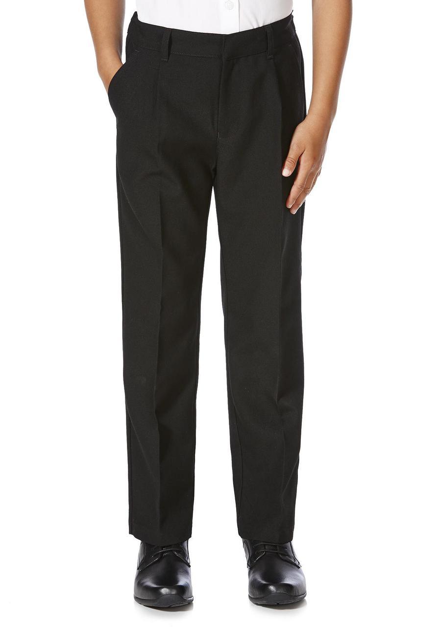 Школьные брюки черные для мальчиков 10-11-12-13 лет Pleat Front F&F (Англия)