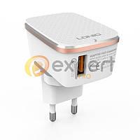 Адаптер LDNIO A1204Q Quick Charge 2.0 USB 2.4A + кабель micro USB
