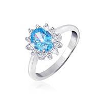 Серебряное кольцо с фианитом КК2ФТ/397 - 18,4