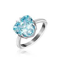 Серебряное кольцо с фианитом КК2ФТ/399 - 19,0