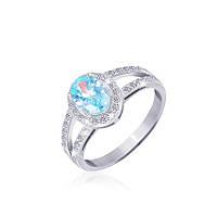 Серебряное кольцо с фианитом КК2ФТ/401 - 17,8