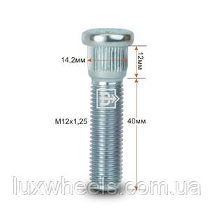 Шпилька забивная CRP142B40 M12X1,25 длина рез.части 40мм Цинк