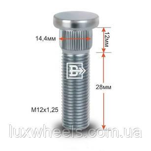 Шпилька забивна CRP144B28 M12X1,25 довжина рез.частини 28мм Цинк