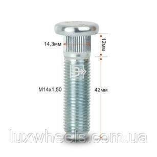Шпилька забивная CRP143D42 M14X1,50 длина рез.части 42мм Цинк