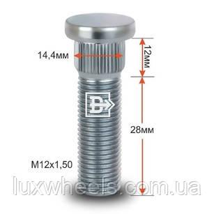 Шпилька забивная CRP144A28 M12X1,50 длина рез.части 28мм Цинк