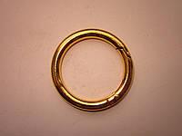 Карабин - кольцо 40 х 6 мм золото