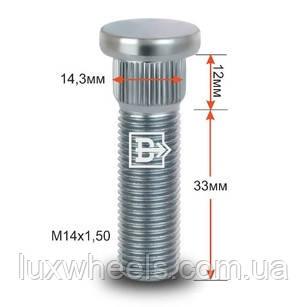 Шпилька забивна CRP143D33 M14X1,довжина 50 рез.частини 33мм Цинк