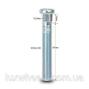 Шпилька забивная CRP123A67 M12X1,50 длина рез.части 67мм Цинк