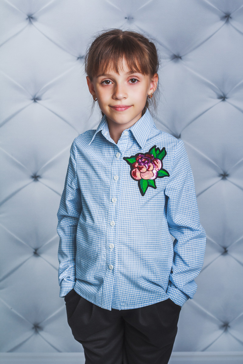 Блузка для девочки с розой