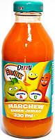 Сок натуральный  морковно - яблочно - банановый Dizzy Marchew banan - jablko 330 ml.