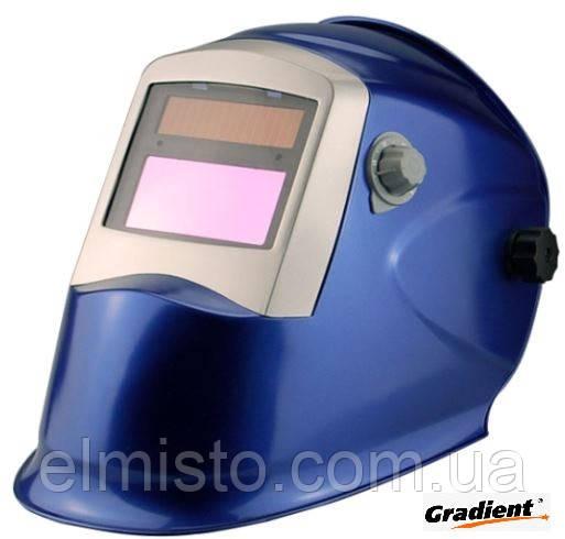 Сварочная маска Хамелеон Gradient W821 синяя с автоматическим светофильтром