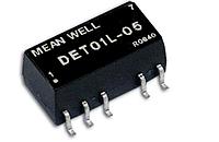 DET01L-15 Блок питания Mean Well 1Вт, вход 5VDC, 280mA, выход +\-15VDC,+\-33mA (DC-DC преобразователь)