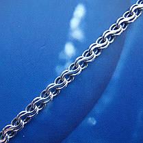 Серебряная цепочка, 550мм, 14 грамм, плетение Ручей, чернение, фото 3