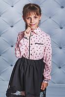 Стильная блуза для девочки  розовая