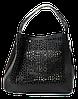 Оригинальная женская сумочка черного цвета KRI-002356