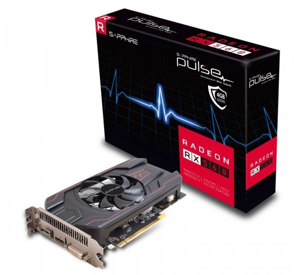 Видеокарта SAPPHIRE AMD RX 560 4G PULSE