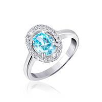 Серебряное кольцо с фианитом КК2ФТ/403 - 16,2