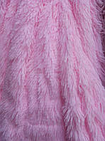 Покрывало травка длинный ворс 220х240 Koloco, розовое кружево