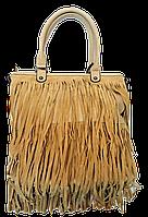 Интересная женская сумочка лапшой светло-бежевого цвета KLL-034200