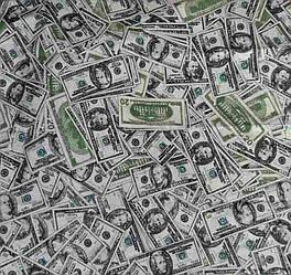 Комплект постельного белья доллары, евро