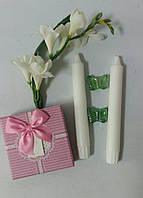 Свечи белые для кованных подсвечников  2 шт
