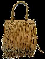 Интересная женская сумочка лапшой темно-бежевого цвета KLL-034222