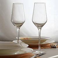 Комплект прозрачных бокалов для шампанского 2ед.