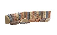 """Купить рваный кирпич ТРВ фасонный полнотелый """"Скеля"""" (кутова, двокутова, півколо)"""