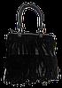 Интересная женская сумочка лапшой черного цвета KLL-034255