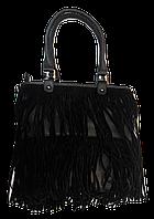 Интересная женская сумочка лапшой черного цвета KLL-034255, фото 1