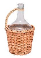 Бутыль в лозе 3 л (заплетенный до половины)