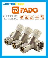 Коллектор  вентильный с фитингом FADO D1 X16 -2 выхода