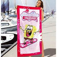 Красивые полотенца Sponge Bob
