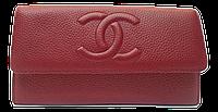 Прекрасный женский клатч Chanel бордового цвета из натуральной кожи CNL-200001