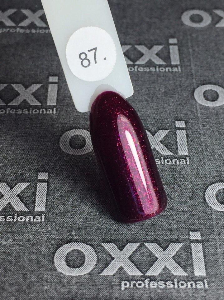Гель-лак Oxxi Professional № 87, 10 мл  (гранат, микроблеск)