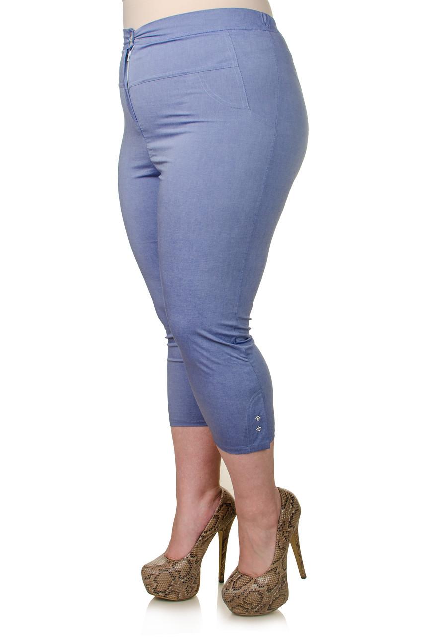 Женские капри батал Лето джинс 52-60 - FaShop  Женская одежда от производителя в Харькове