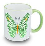 Чашка с Вашим дизайном Two Tone Mug, с цветной ручкой и каймой, фото 10