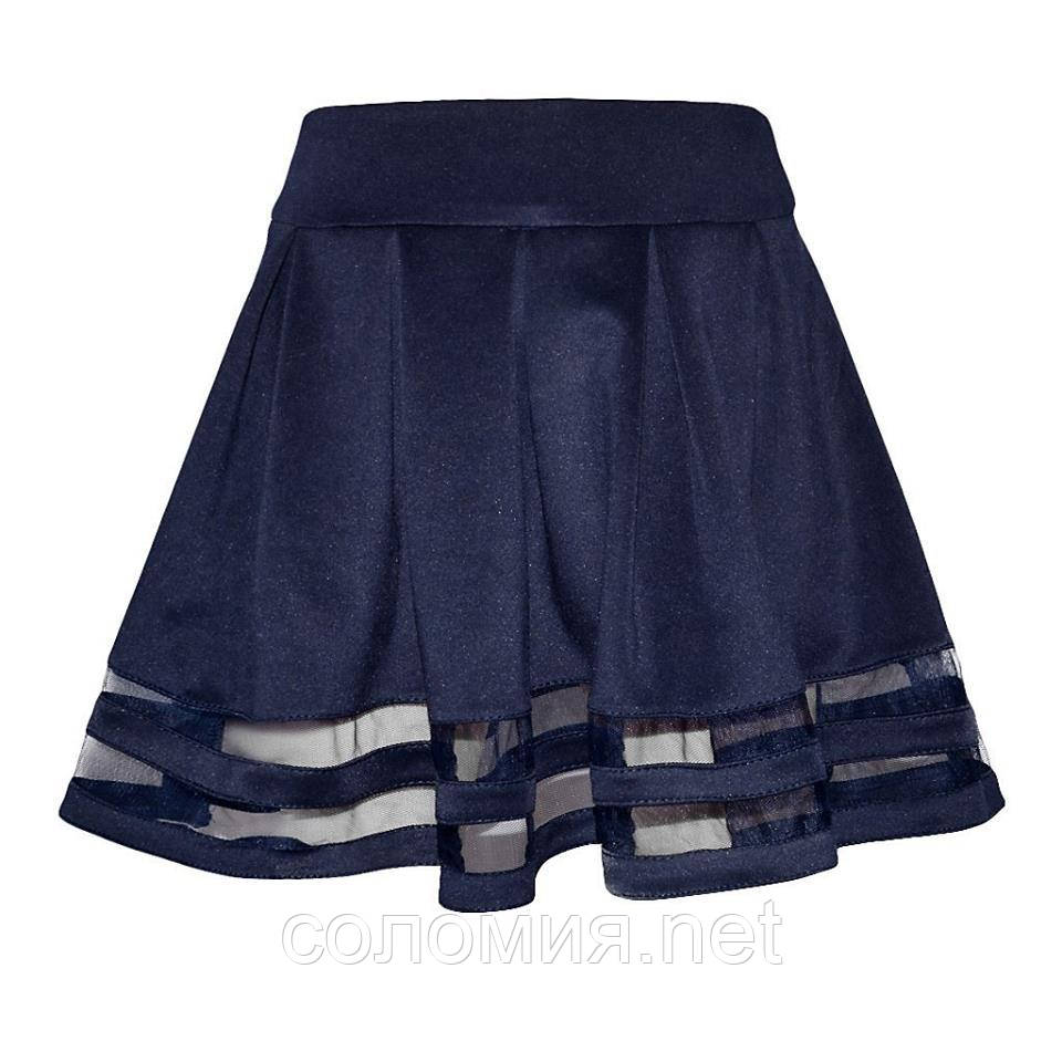 """Шкільна спідниця """"Амелія"""" синього кольору"""