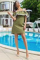 Коттоновое летнее платье красивого оформления