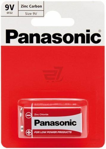 """Батарейки """"PANASONIC"""" RED 6F22 BLI (1 шт/уп) Zink Carbon (крона)"""