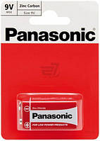 """Батарейки """"PANASONIC"""" RED 6F22 BLI (1 шт/уп) Zink Carbon (крона), фото 1"""