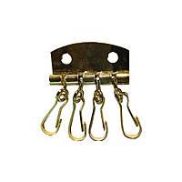 Ключница карабин золото  (10шт)