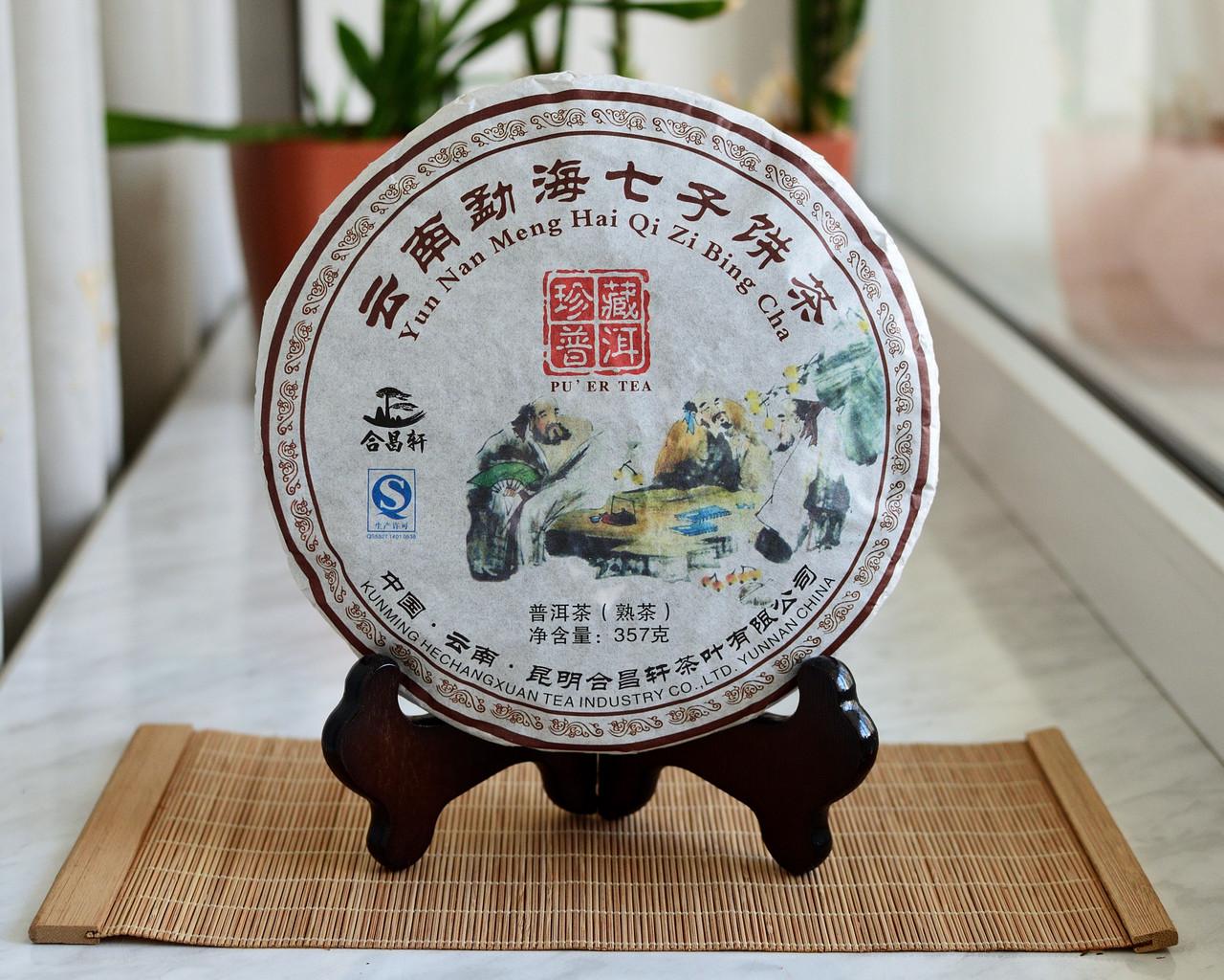 Китайский Чай Шу Пуэр Чень Сян 2009 года 357 граммов