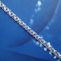 Серебряная цепочка, 550мм, 14 грамм, плетение Ручей, фото 2