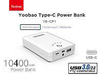 Внешний аккумулятор Yoobao CP1 TYPE C Power Bank 10400 mAh, черный и белый, оригинал