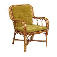 Кресло КО-8 плетеное из лозы с подушкой