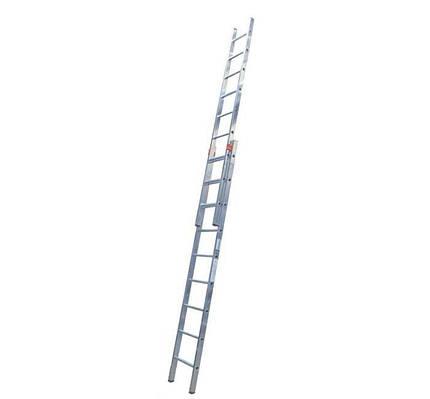 Алюминиевая лестница двухсекционная KRAUSE Fabilo 2x9 ступеней