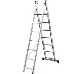 Лестница-стремянка двухсекционная Corda KRAUSE 2х7 ступеней