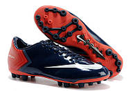 Футбольные кроссовки бутсы  Nike Mercurial Vapor X AG/MG - Midnight Blue Indian Red White